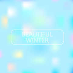 beautiful winter on background with color soft light