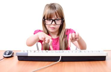 Girl with keyboard.