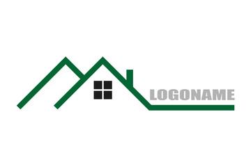Real estate logo flat design stylish illustration