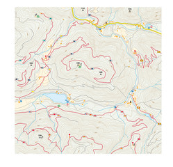 imaginary hiking map