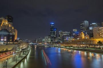 Australia, Melbourne city at Night.