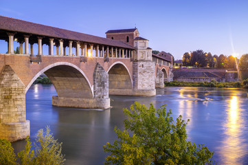 Pavia: the covered bridge. Color image