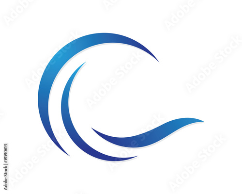c wave logo template stock image and royalty free vector files on rh fotolia com wave logo free download