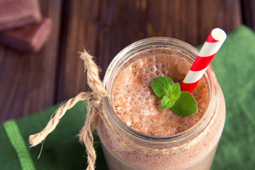 Chocolate smoothie (milkshake)
