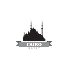 Cairo Egypt city symbol vector illustration