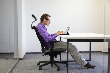 Image result for person slouching in chair