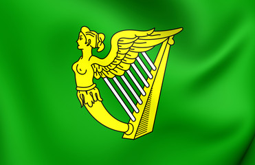 Green Harp Flag of Ireland