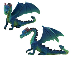 Isolated dragon toy photo.  Isolated dragon toy photo side and angle view.