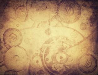 vintage clockwork background