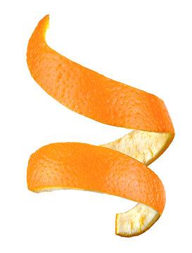 Spiral orange peel isolated