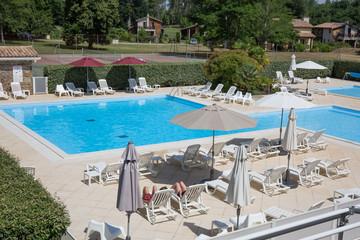 Beautiful swimming pool with nobody