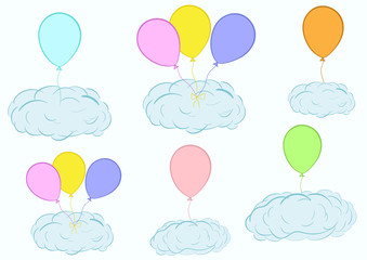 Clouds on balloons