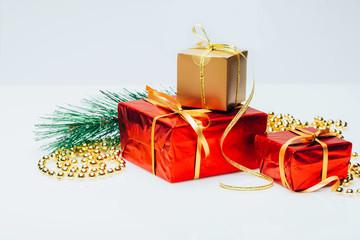 New year box gift card decoration