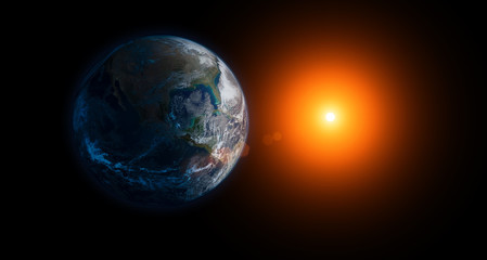 Earth and sun