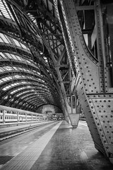 Aluminium Prints Train Station Milan Central Station - binary
