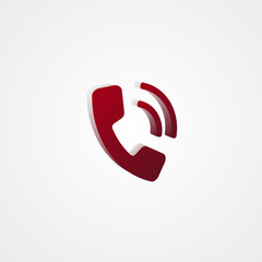 Phone Red 3d  illustration