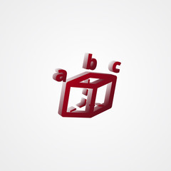 Trigonometry Red 3d  illustration
