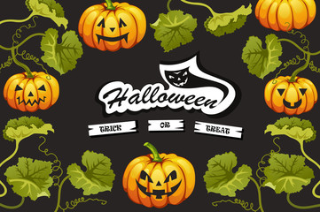 halloween pumpkins. vector illustration