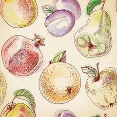 Vector Fruit pattern