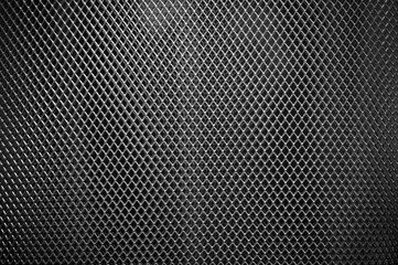 Perforated metal grate.