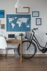 Urban bike near desk