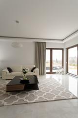 White spacious lounge interior