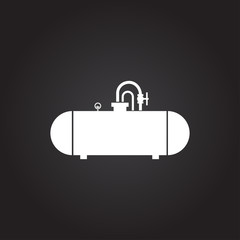 Vector color flat cistern icon