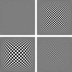 Chequered patterns set. Textured backgrounds.