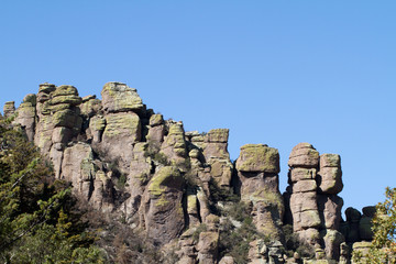 Chiricahua National Monument, with massive lichen-covered rocks, in southern Arizona