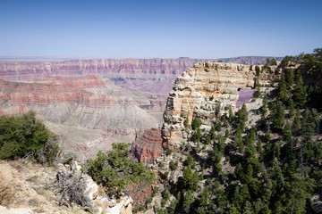 """Angel's Window"" in Grand Canyon National Park seen from the North Rim"