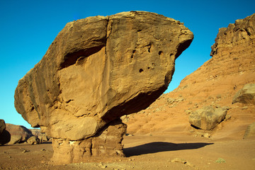 Balanced Rock at Vermilion Cliffs National Monument near Lee's Ferry in northern Arizona