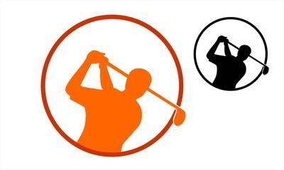 man pro golfer icon