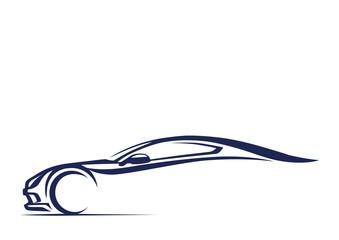 Yarış otomobili silueti
