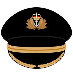 Cap officer of the Navy of Great Britain