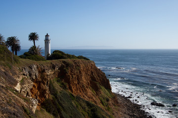 Historic Point Vicente Lighthouse on California's Palos Verdes Peninsula