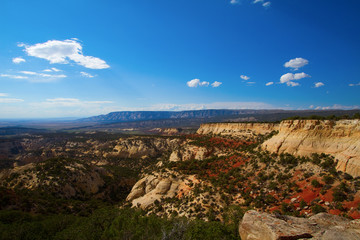 Dramatic long views at Dinosaur National Monument in Utah and Colorado