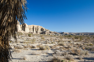 California's Red Rock Canyon State Park in Mojave Desert, wide view