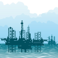 The oil-producing platforms