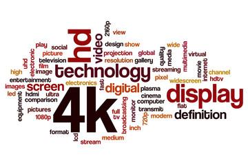 4k word cloud concept
