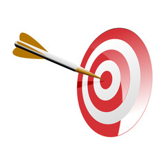Bullseye Right on Target Vector Illustration