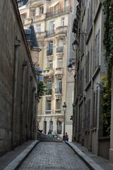 Paris - Saint Etienne du Mont Street  in the 5th arrondissement, near the Panthéon andchurch of Saint Etienne du Mont
