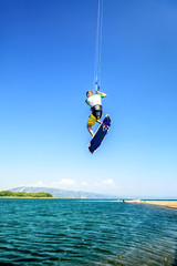 Water fun and kitesurfing on Ada Bojana, Montenegro