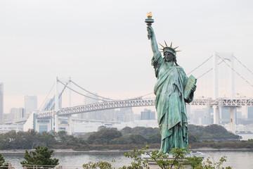 Statue of liberty at Odaiba, Tokyo, Japan