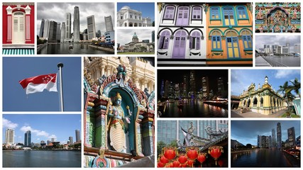 Singapore City travel collage