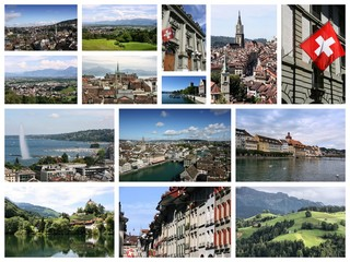 Switzerland travel collage