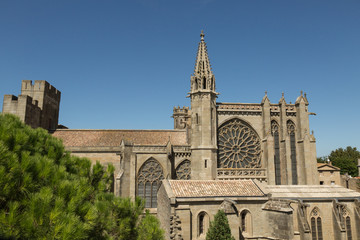 the 6th century Gothic church of St. Nazaire in Carcassonne, France