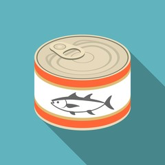 vector tuna canned,flat design
