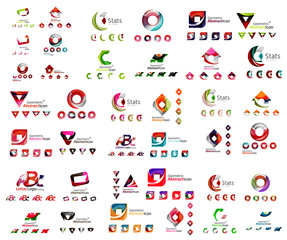 Universal set of abstract logos. Business, app, web design