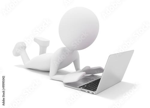 3d Männchen Mit Computer Stockfotos Und Lizenzfreie Bilder Auf
