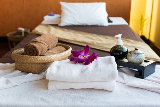 Spa complementary package,on top of the bad